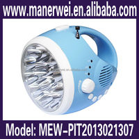 LED flashlight ABS material siren blink high power phone charger built in antenna am radio hunting flexible led torch