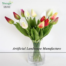 SJZT12 Hight quality new products , hot sale interior home party decoration handmade felt decoration artificial tulip flower