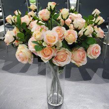 wholesale decorative artificial flower sourcing department rose manufactory 27661H