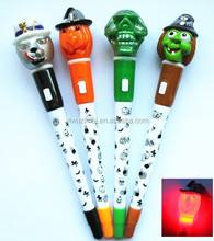 2015 Halloween ghost light pen/witch open turn out the light pen/promotion pen/Father Christmas Ads ball-point pen