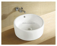 Sanitary ware white round washing basin, counter top washing basin