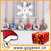 2015 Christmas gift DIY watch face cartoon pocket watch for kids