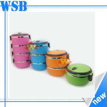 Stainless steel colored food flask/korea kitchenware