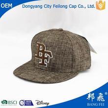 fashionable leather snapback hats custom with high quality
