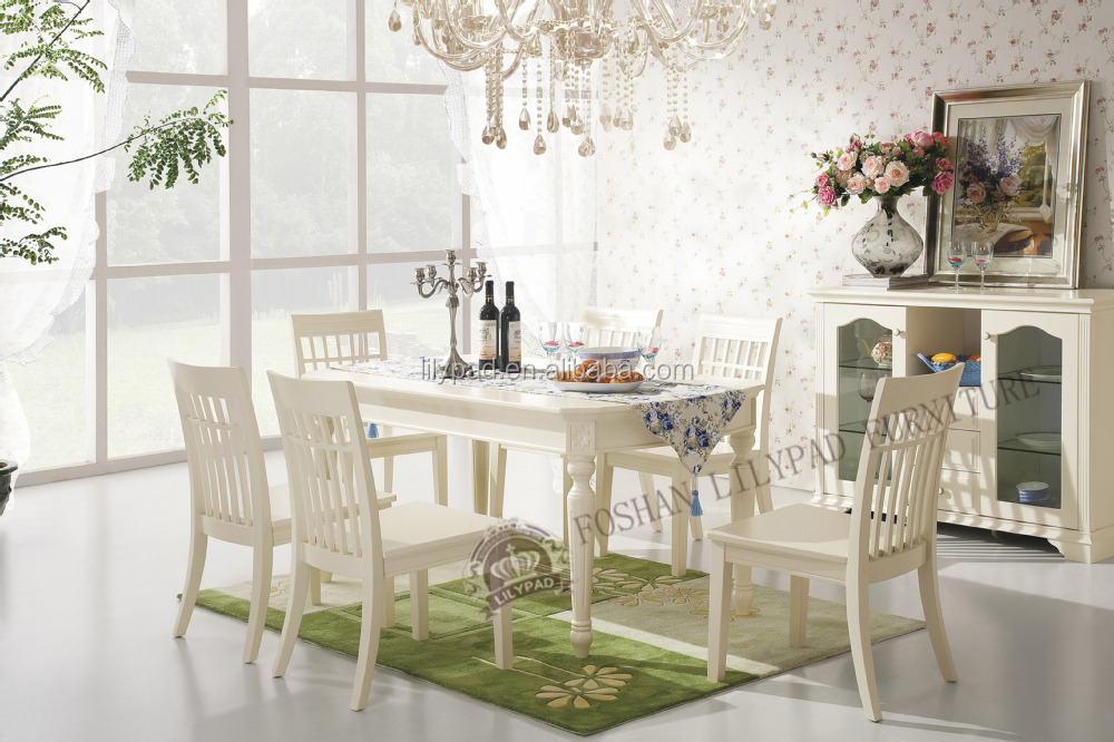 Italian Solid Wood Birch Country Style Dining Room