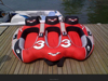 inflatable flying towable/inflatable water ski snow tube sport game