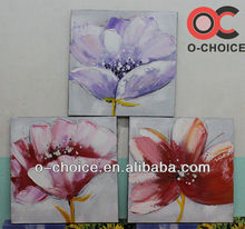 Newest handpainted modern oil painting pictures of flowers