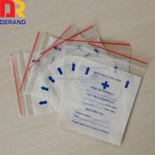 100% PE zipper locking pharmacy bag for dispensing drug/pill