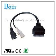 OBD2 Car Diagnostic Cable for OBD2 Aud 2P obd2 extension cable