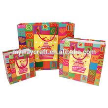colorful lovely happy birthday cake gift paper bag