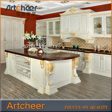2015 Made In China White Kitchen Cabinet Solid/Beech/Cherry Wood Kitchen Cabinets