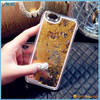 2015 Newest Transparent Plastic Bling 3D Moving Liquid Glitter Star Case For Iphone 6S