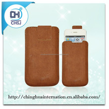 PU leather Smartphone sleeve Bag for iPhone 5 with self-eject function