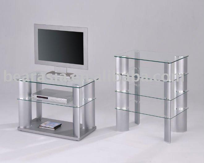 Alum nio e vidro temperado home sala mobili rio moderno tv for Meuble tv grande hauteur