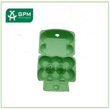 Egg carton box maked by Eco-friendly used recycling paper cardboard crates
