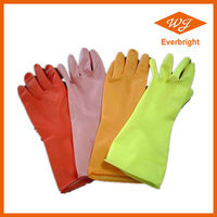 disposable household gloves Flock/cotton Lined/unlined Latex Rubber Hand Gloves