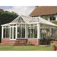Aluminum villa sunroom glass aluminum frame winter garden
