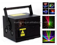 New design!!!!!!!!!!!2014 Guangzhou KIYA Lighting 3W RGB animation (high configuration)high power laser