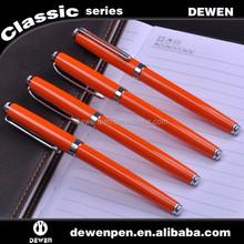 DW3002 good quality orange metal fountain pen for promotion