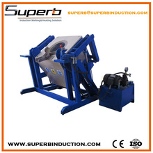 Hydraulic tilting electric induction lead melting pot for sale