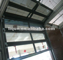 metal frame electric roll up glass door