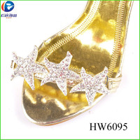 HW6095 starfish ornament girls party sandal shoe accessories