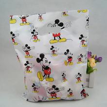 Plástico personalizado mickey mouse impresso die cut sacos para loja de presentes adorável impresso die cut sacos