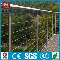 304/316 stainless steel cable railing for stair/balcony fence