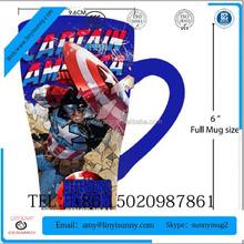 2015 new product china supplier 3D printing blue printed animal decal ceramic mug