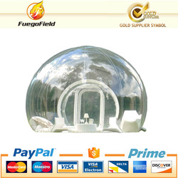 Hot transparent inflatable lawn bubble tent, bubble tree inflatable camping tent with corridor