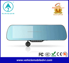 rearview mirror car gps with dvr with 5M rearview mirror car gps with dvr with 2CH 2 cameras