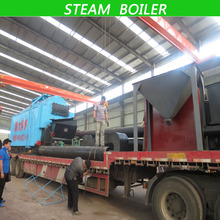 Low pressure Chain grate Automatic industrial 2000kg / hr Steam Boiler work with 1.0MPa supply high temperature steam