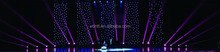 10*3m star curtain wedding decoration led stage light