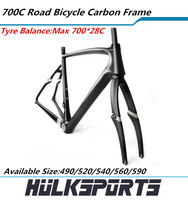 Carbon frame for road bicycle 700C carbon road bike frame with fork accept custom logo