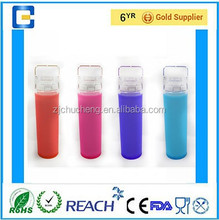 2015 products innovative ,insist broken borosilicate drinking glass , fruit water bottle ,drinkware glass with silicone sleeve,