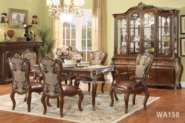 Homey Design Traditional Classic European Luxurious Dining Set WA162