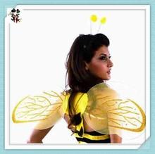 Antenne giallo fantasia costume addio al nubilato ali delle api con la testa pezzo hpc-0827