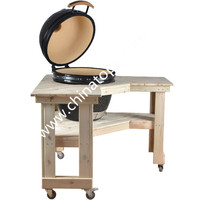 TOPQ Chinese Antique Wooden bbq Table folding camping/garden folding table