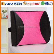 OEM order supplier cheap car massage memory foam lumbar support cushion