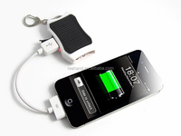 Portable Built-in li-ion Battery 1200mAh solar panel charger with LED Light Torch and keychaim fuction