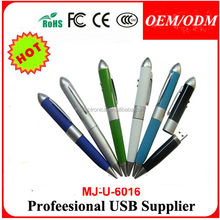 Deluxe Stainless Iron Ball Pen with USB Flash Drive-2 in 1,environmental pen usb stick