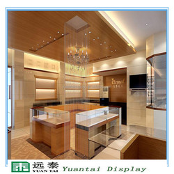 Luxury jewelry display design store layout, used jewelry display case