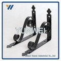 Set / 2 ferro fundido marrom rústico suporte de prateleira Set ~ Bud videira 033 suportes de prateleira de ferro fundido