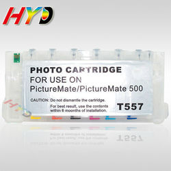 Empty T557 refillable ink cartridges for Epson PictureMate 500 Printer