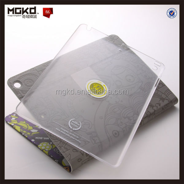 OEM camouflage embossed 360 degree leather case for ipad air case