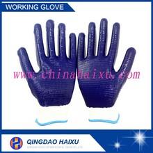 13 gauge polyester shell nitrile work coated gloves
