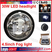 """Factory price 4-1/2"""" round Motorcycle Motorbike fog 4.5inch LED headlight for Harley davidson motorcycle"""
