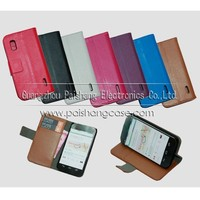 Wallet flip leather case for LG Nexus 4 E960