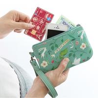 Zipper hand travel handle phone pouch/coin purse/card pouch