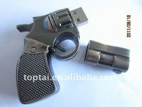 Metal gun shape usb disk with capacity 8GB and metal gun color available